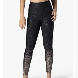 Beyond Yoga Alloy Ombre Black HighWaist Legging XL